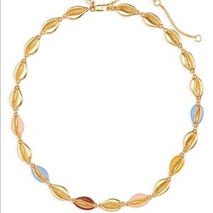 Madewell Enameled Cowrie Shell Necklace